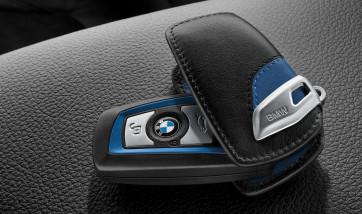 BMW Schlüsseletui M-Sport Line schwarz/blau