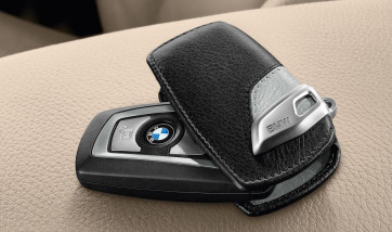 BMW Schlüsseletui Urban Line schwarz/hellgrau