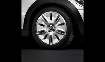 MINI Alufelge Silver Shield 117 7J x 17 ET 48 Silber Vorderachse / Hinterachse MINI R55 R56 R57 R58 R59