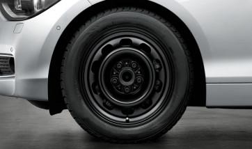 BMW Stahlfelge Styling 12 schwarz 7J x 16 ET 40 Vorderachse / Hinterachse 1er F20 F21 2er F23
