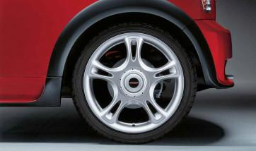 MINI Alufelge John Cooper Works Star Spoke R95 7J x 18 ET 52 Silber Vorderachse / Hinterachse MINI R50 R52 R53 R55 R56 R57 R58 R59