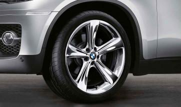 BMW Kompletträder Sternspeiche 128 chrom 21 Zoll X6 E71 (Mischbereifung)