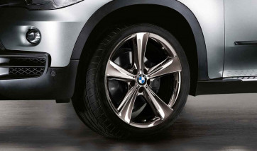 BMW Kompletträder Sternspeiche 128 midnight chrom 21 Zoll X5 E70 F15 X6 F16
