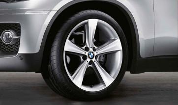 BMW Alufelge Sternspeiche 128 silber 9J x 19 ET 51 Hinterachse X3 E83