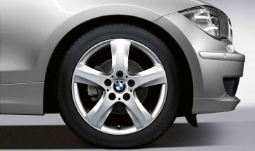 BMW Alufelge Sternspeiche 142 7J x 17 ET 47 Silber Vorderachse / Hinterachse BMW 1er E81 E82 E87 E88
