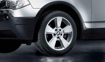 BMW Alufelge Sternspeiche 143 silber 8J x 18 ET 46 Vorderachse / Hinterachse X3 E83