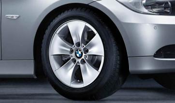 BMW Alufelge Sternspeiche 155 7J x 16 ET 34 Silber Vorderachse / Hinterachse BMW 3er E90 E91