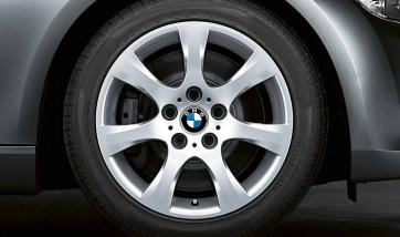 BMW Alufelge Sternspeiche 185 silber 8J x 17 ET 34 Vorderachse / Hinterachse 3er E90 E91 E92 E93