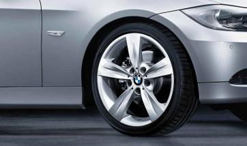 BMW Alufelge Sternspeiche 287 8,5J x 18 ET 39 Silber Hinterachse BMW 3er E90 E91 E92 E93