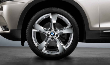 BMW Kompletträder Sternspeiche 311 chrom 20 Zoll X3 F25 X4 F26