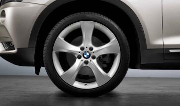 BMW Alufelge Sternspeiche 311 silber 10J x 20 ET 51 Hinterachse X3 F25 X4 F26
