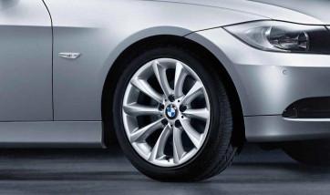 BMW Alufelge Sternspeiche 340 8,5J x 17 ET 37 Silber Hinterachse BMW 3er E90 E91 E92 E93