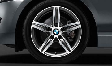 BMW Winterkompletträder Sternspeiche 379 bicolor (orbitgrey / glanzgedreht) 17 Zoll 1er F20 F21 2er F22 F23 RDCi