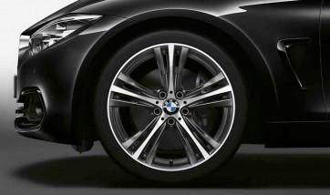 BMW Alufelge Sternspeiche 407 orbitgrey 8,5J x 19 ET 47 Hinterachse 3er F30 F31 4er F32 F33 F36