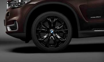 BMW Winterkompletträder Sternspeiche 491 Jetblack 20 Zoll X5 F15 X6 F16 RDCi (Mischbereifung)