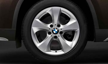 BMW Alufelge Streamline 306 rechte Fahrzeugseite 8J x 17 ET 43 Silber Vorderachse / Hinterachse BMW X3 F25 X4 F26