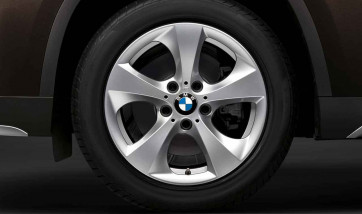 BMW Alufelge Streamline 306 7J x 16 ET 31 Silber Vorderachse / Hinterachse (linke Fahrzeugseite) BMW 3er F30 F31 E90 E91