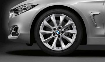 BMW Alufelge Turbinenstyling 415 silber 8J x 18 ET 34 Vorderachse / Hinterachse 3er F30 F31 F34 4er F32 F33 F36