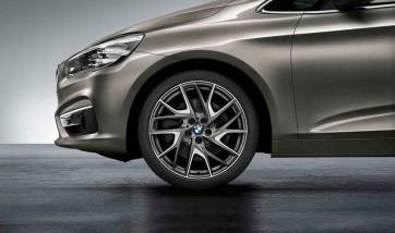 BMW Kompletträder Turbinenstyling 487 bicolor (ferricgrey / glanzgedreht) 19 Zoll 2er F45 F46 RDCi