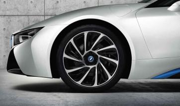 BMW Alufelge Turbinenstyling 625 bicolor (schwarz / glanzgedreht) 8,5J x 20 ET 50 Hinterachse rechte Fahrzeugseite i8