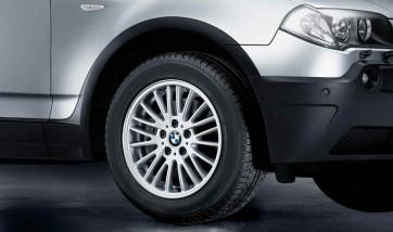 BMW Alufelge V-Speiche 110 7J x 17 ET 39 Silber Vorderachse / Hinterachse BMW X3 E83