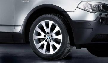 BMW Alufelge V-Speiche 206 9J x 18 ET 51 Silber Hinterachse BMW X3 E83