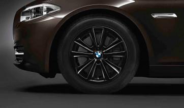 BMW Winterkompletträder V-Speiche 236 schwarz 17 Zoll 5er F10 F11 6er F06 F12 F13