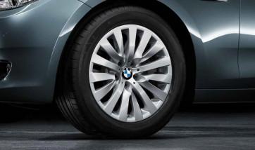 BMW Alufelge V-Speiche 254 silber 8J x 18 ET 30 Vorderachse / Hinterachse 5er F07 7er F01 F02 F04