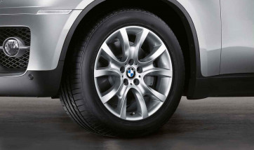 BMW Alufelge V-Speiche 257 silber 9J x 19 ET 48 Vorderachse X6 E71 E72