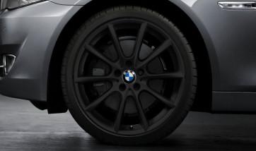 BMW Kompletträder V-Speiche 281 schwarz matt 18 Zoll 5er F10 F11 6er F06 F12 F13