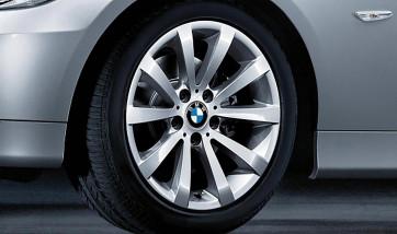BMW Alufelge V-Speiche 285 silber 8J x 17 ET 34 Vorderachse / Hinterachse 3er E90 E91 E92 E93