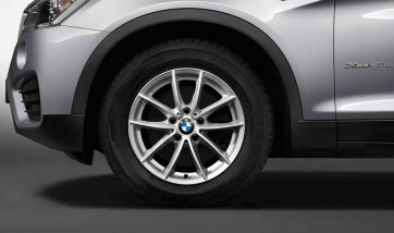 BMW Kompletträder V-Speiche 304 reflexsilber 17 Zoll X3 F25 X4 F26