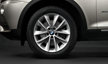 BMW Alufelge V-Speiche 307 silber 8J x 18 ET 43 Vorderachse / Hinterachse X3 F25 X4 F26