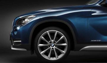 BMW Alufelge V-Speiche 324 9J x 19 ET 41 bicolor (ferricgrey / glanzgedreht) Hinterachse BMW X1 E84