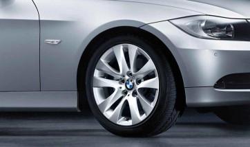 BMW Alufelge V-Speiche 338 8J x 17 ET 34 Silber Vorderachse / Hinterachse BMW 3er E90 E91 E92 E93