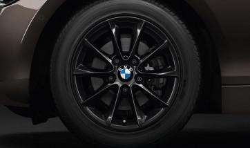 BMW Kompletträder V-Speiche 411 schwarz 16 Zoll 1er F20 F21 2er F22 F23