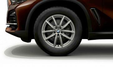 BMW Winterkompletträder V-Speiche 618 reflexsilber 17 Zoll 6er G32 7er G11 G12 RDCi