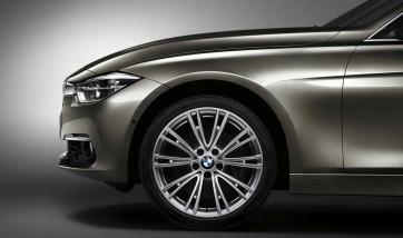BMW Alufelge V-Speiche 626 glanzgedreht 8,5J x 19 ET 47 Hinterachse für 3er F30 F31 4er F32 F33 F36