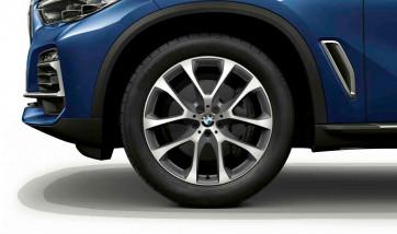 BMW Kompletträder V-Speiche 738 bicolor (ferricgrey / glanzgedreht) 20 Zoll X5 G05 X6 G06 RDCi (Mischbereifung)