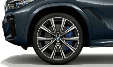 BMW Alufelge V-Speiche 746 orbitgrey 9,5J x 22 ET 37 Vorderachse X5 G05 X6 G06