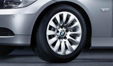 BMW Alufelge Vielspeiche 282 silber 7J x 16 ET 31 Vorderachse / Hinterachse 3er E90 E91
