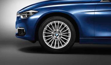 BMW Alufelge Vielspeiche 414 silber 7,5J x 17 ET 37 Vorderachse / Hinterachse für 3er F30 F31 4er F32 F33 F36