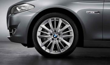 BMW Alufelge W-Speiche 332 silber 9J x 19 ET 44 Hinterachse 5er F10 6er F06 F12 F13