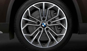 BMW Kompletträder Wabenstyling 323 bicolor (spacegrau / glanzgedreht) 18 Zoll X1 E84