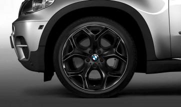 BMW Alufelge Y-Speiche 214 schwarz 11J x 20 ET 37 Hinterachse X6 E71 E72
