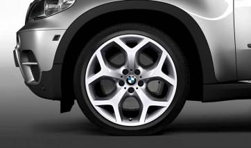BMW Alufelge Y-Speiche 214 silber 11J x 20 ET 37 Hinterachse X6 E71 E72