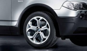 BMW Alufelge Y-Speiche 280 8J x 18 ET 46 Silber Vorderachse / Hinterachse BMW X3 E83