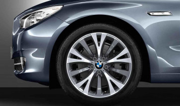 BMW Alufelge Y-Speiche 315 9,5J x 19 ET 39 Silber Hinterachse BMW 5er F07 7er F01 F02 F04