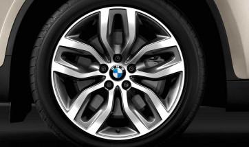 BMW Winterkompletträder Y-Speiche 337 bicolor (schiefergrau / glanzgedreht) 20 Zoll X5 E70 X6 E71