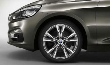 BMW Alufelge Y-Speiche 484 bicolor (ferricgrey / glanzgedreht) 8J x 18 ET 57 Vorderachse / Hinterachse 2er F45 F46